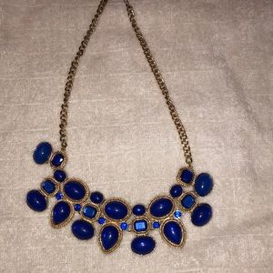 Royal Blue & Gold Necklace